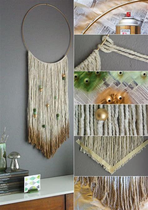 wandbehang deko selber machen als coole idee fuer