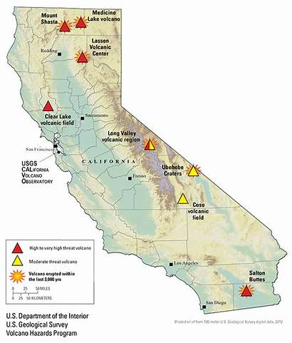 Volcano Tsunami Volcanoes California Map Active Earthquake