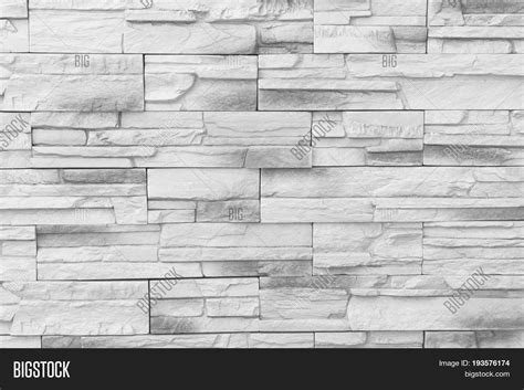 Brick Wall Background / Old Gray Image & Photo
