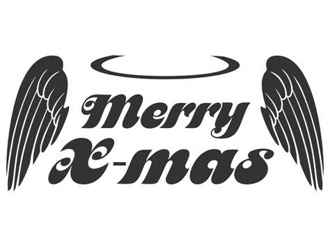 Wandtattoo Merry X-mas Flügel