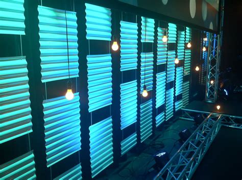 Church Stage Backdrop by City Club Theme Corrugated Plastic Roofing Material With