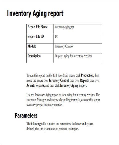 sample inventory report  sample  format