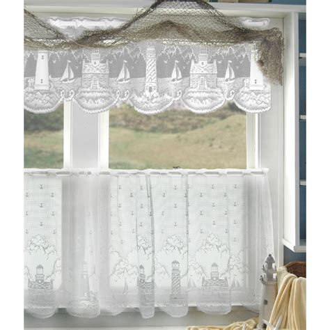 white lighthouse lace tier curtains  heritage lace bedbathhomecom