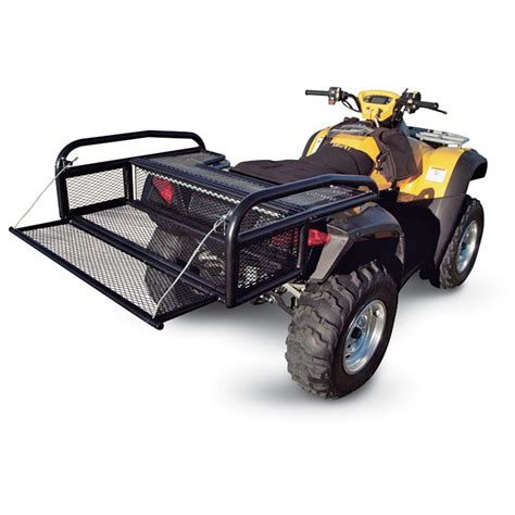 atv rack accessories kolpin 174 collapsible atv rear drop rack 98248 racks