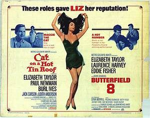 Cat On A Hot Tin Roof/Butterfield 8 movie posters at movie ...