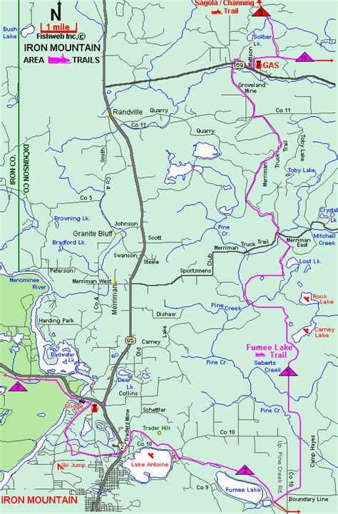michigan snowmobiling fumee lake snowmobile trail map