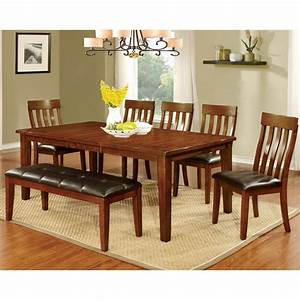 Shop, Furniture, Of, America, Richmonte, Country, Style, Cherry, Dining, Table, With, Leaf, -, On, Sale