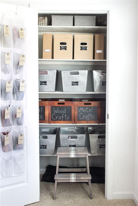 Organize Craft Closet by Creative Thrifty Small Space Craft Room Organization
