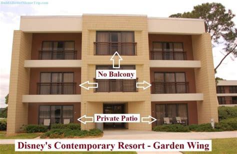 contemporary garden wing disney s contemporary resort balconies and patios