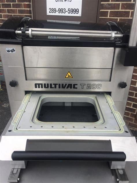 multivac   semi automatic tray sealer mb food equipment