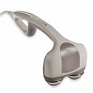 Homedicsr percussion action handheld massager with heat for Bed with massager