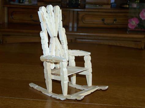 la chaise à bascule en épingle à linge création création