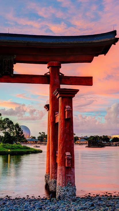 epcot disneyland torii lakes culture japanese architecture