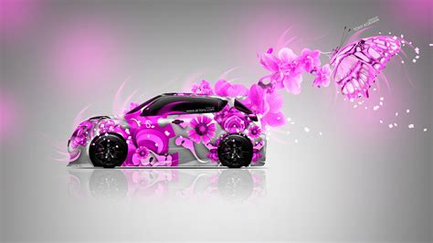 nissan juke  side fantasy flowers butterfly car  el