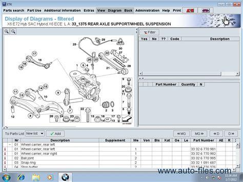 Bmw  Mini  Rollsroyce Etk Original Spare Parts Catalog