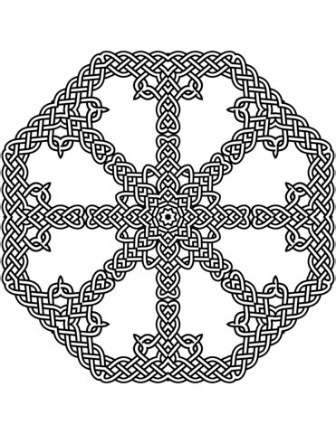 celtic knot pattern coloring page  printable