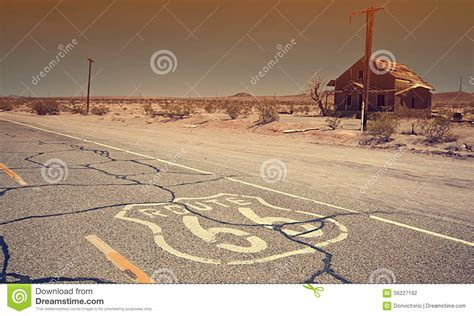 Famous Route 66 Landmark On The Road Stock Photo Image