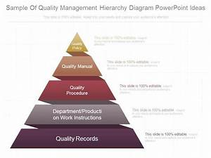 Sample Of Quality Management Hierarchy Diagram Powerpoint
