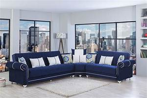 Contemporary navy blue sectional sofa radionigerialagoscom for Contemporary navy blue sectional sofa