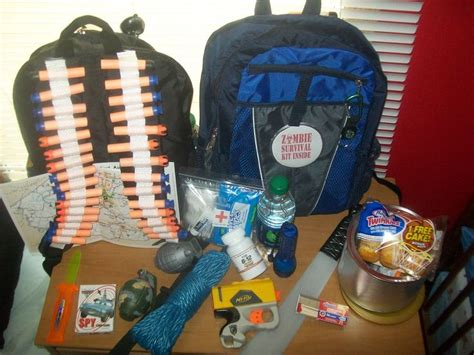 Great for any zombie fans Survival backpack: first aid
