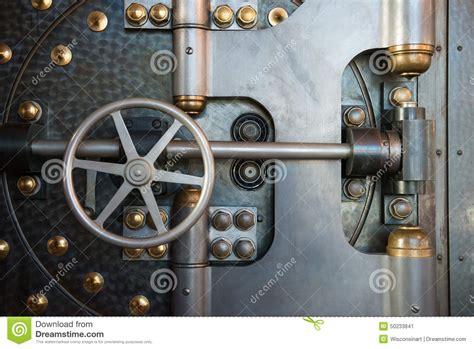 chambre de compensation banque coffre fort de porte de chambre forte de banque de vintage