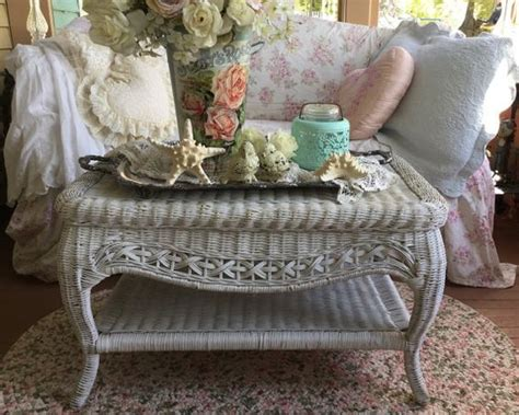shabby chic wicker wicker coffee table wicker and shabby chic on pinterest