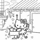 Coloring Pages Kitty Coffee Table Hello Teenage Printable Restaurant Sheets Drawing Busy Colouring Sweet Setting Adults Getcolorings Summer Printables Street sketch template