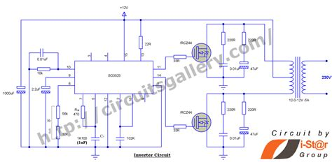 12v to 230v inverter circuit using pwm ic sg3525 12v