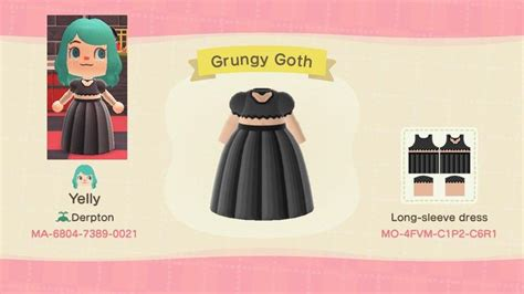 acnh grungy goth outfit  uyelly  reddit