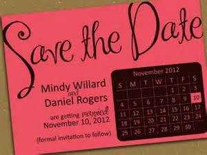 Save the Date Card with Calendar