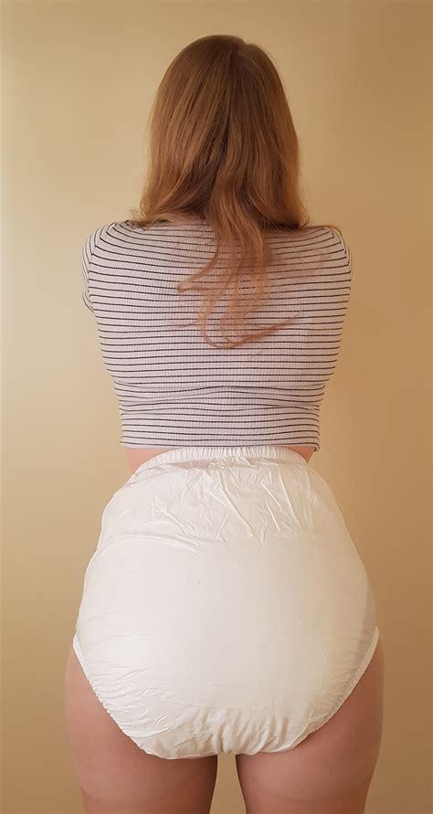 white front popper plastic pants  dotty diaper company