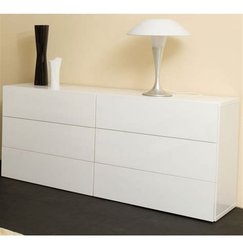 commode 6 tiroirs blanche temahome chest of drawers