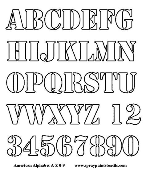 printable stencil letters free alphabet stencils 64471