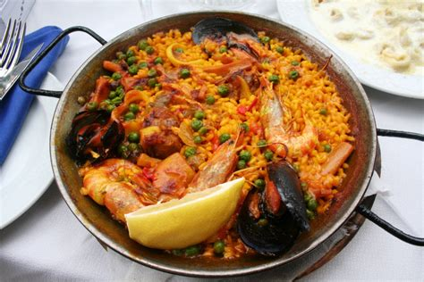 cuisine paella traditional food in madrid spain cuisine