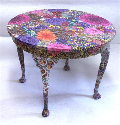 fabric decoupage furniture