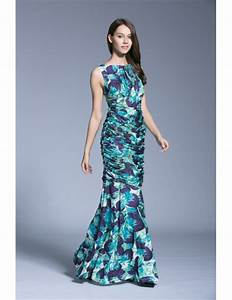 summer tropical sheath printed chiffon long weeding guest With tropical wedding guest dresses