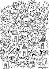 Coloring Emily Fullmoonfiberart sketch template