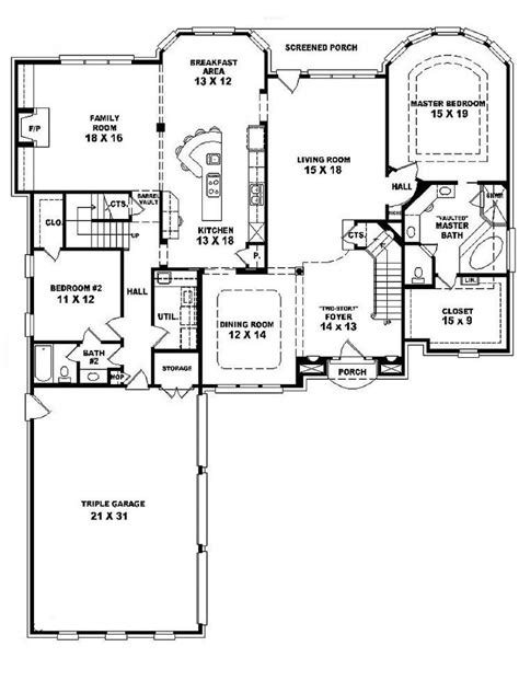 5 bedroom house plans 2 unique house plans two five bedroom 5 bath