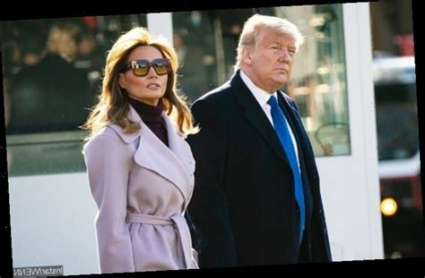 Melania Trump Awkwardly Brushes Off Donald's Attempted ...