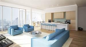 Luxurious, Modern, Living, Room, Interior, 3d, Model