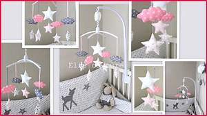 best idee deco chambre bebe fille rose et gris photos With deco mural chambre bebe