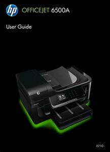 Hp Officejet 6500a Plus User Manual