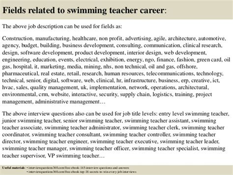 top  swimming teacher interview questions  answers