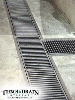 Trench Drain Systems   Stainless Steel Grating   Drainage