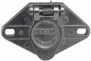 Pollak 6-pole  Round Pin  Trailer Wiring Socket