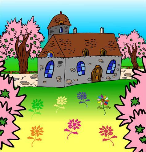 dessin dang illustration chanson la fleur de toutes les couleurs la maison du bonheur