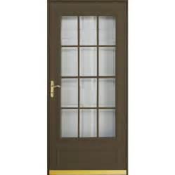 shop pella cheyenne brown mid view safety wood core