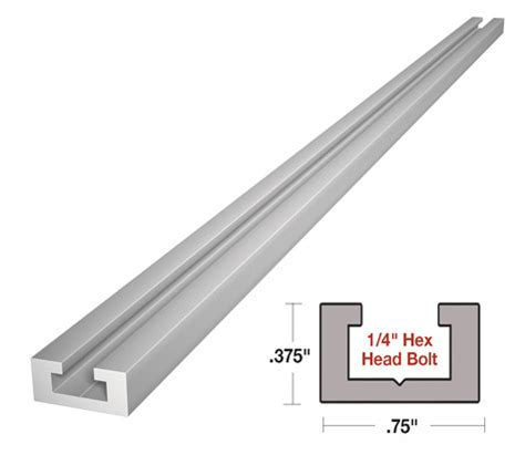 alu mini  track  standard    hex bolt
