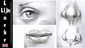 Drawing The Realistic Eye  Nose And Mouth Step By Step For Beginners