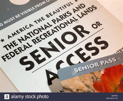 senior pass the national parks and federal recreational lands senior access pass stock photo royalty free
